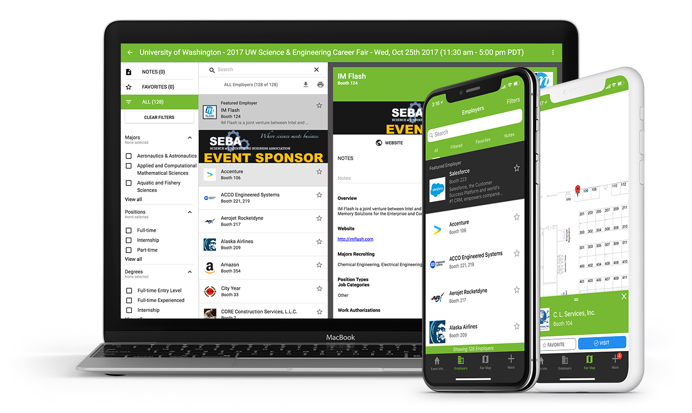 Career Fair Plus App on iPhone